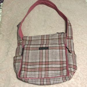 Houndstooth wool diaper bag